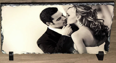 2 x Slate Photo Frames 300mm x 150mm - Customize It
