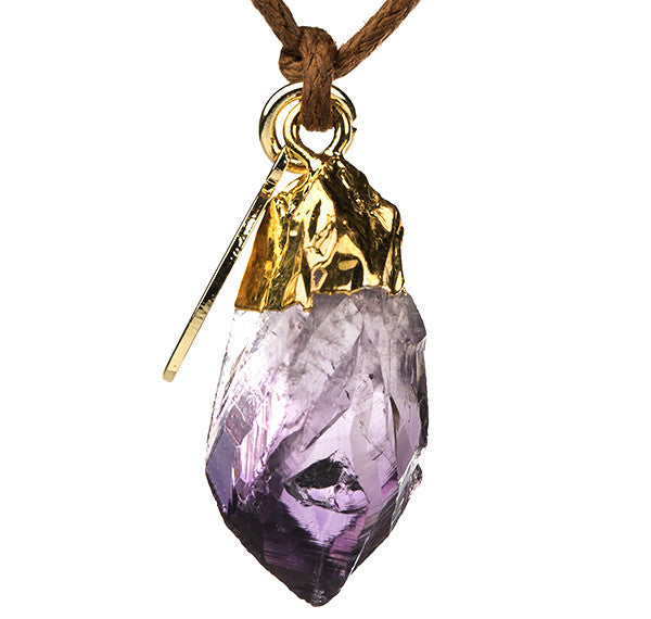 HEALING CRYSTAL AMETHYST NECKLACE KARMA BLISS SPIRITUALITY