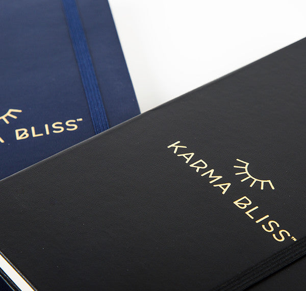 karma bliss moleskin journal notes navy Black Journaling writers