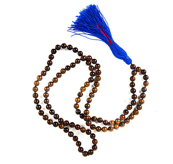 Karma Bliss Jewelry Necklace Mala Rosewood Healing Protection Trust Honesty Loyalty- Meditation Tool- Sacred-spiritual