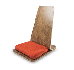 OM MEDITATION CHAIR KARMA BLISS WOOD FOAM CUSHION MEDITATE FURNITURE NEW AGE SPIRITUALITY NAMASTE ALMOND TAN