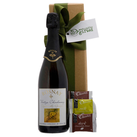 Bubbles and Chocolates Wine Hamper - Naturally Gifted