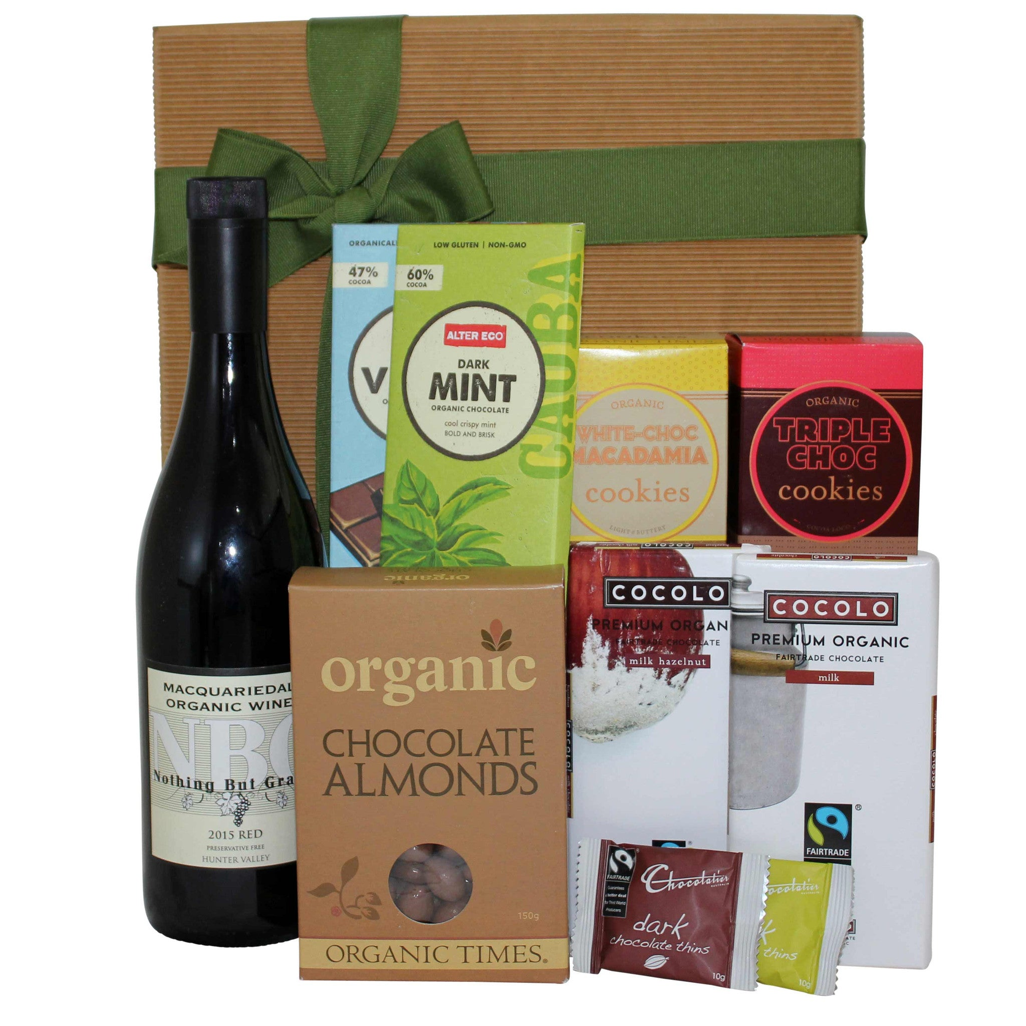 Gourmet Chocolate and Wine Hamper - Naturally Gifted