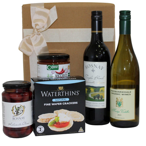 Local Gourmet Food and Wine Gift Hamper - Naturally Gifted