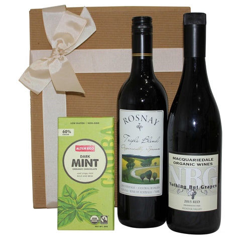 Organic and Preservative-free Red Wine Gift Box - Naturally Gifted