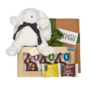 Fairtrade Chocolate Bunny Hamper - Naturally Gifted