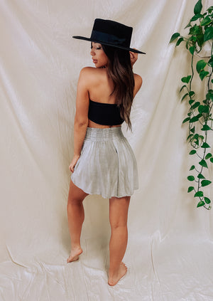 Sway My Way Shorts- Lt. Grey
