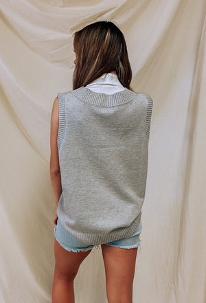 Back to the 90s Vest - Grey