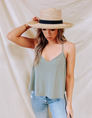 Always Yours Tank - Sage Green