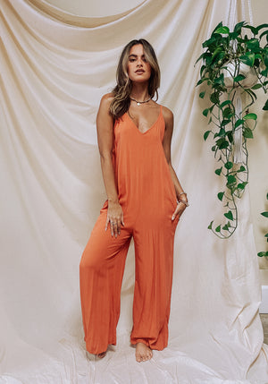 Tatum Jumpsuit - Burnt Orange