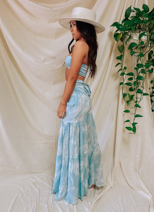 Beach Bliss Boho Pant- White Aqua