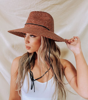 Boater Hat (Brown)