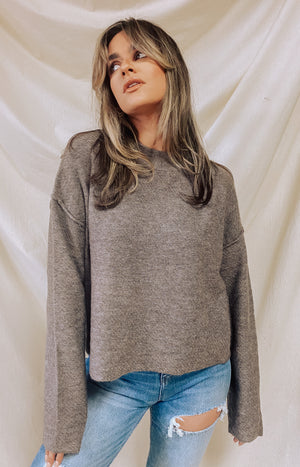 Up In The Clouds Sweater - Khaki