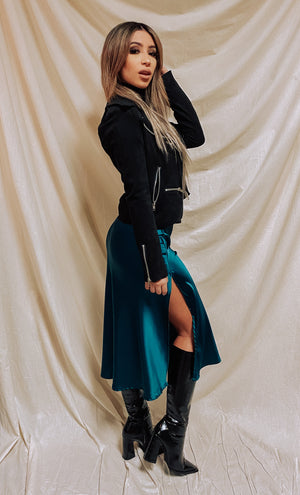 Serving Sass Skirt - Emerald
