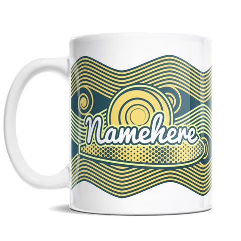 11oz Personalized Coffee Mug - Beach Wave Adventure