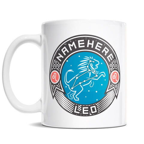 11oz Personalized Coffee Mug - Zodiac Sign of Leo I