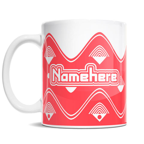 11oz Personalized Coffee Mug - Arcade Retro Wave