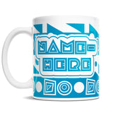 11oz Personalized Coffee Mug - Geometric Rumble