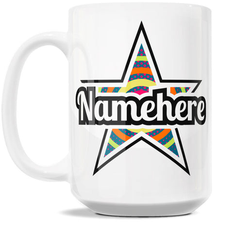 15oz Personalized Coffee Mug - Star Nova Wave