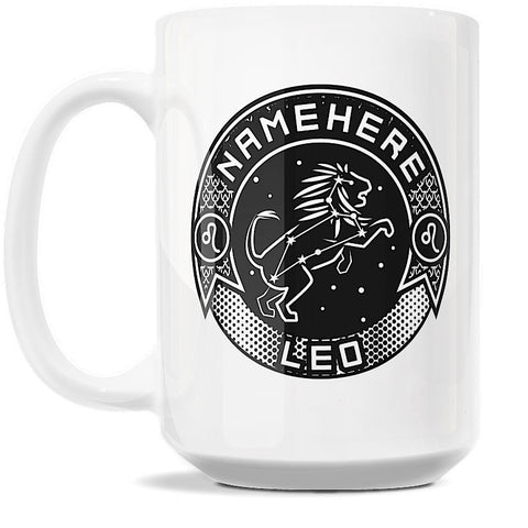 15oz Personalized Coffee Mug - Zodiac Sign of Leo I