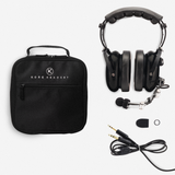KORE AVIATION P1 PNR Mono Pilot Aviation Headset with MP3 Support Bundle with Carrying Case (2 Items)