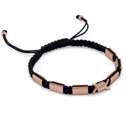 Barb Wire Macrame Bracelet | Rose Gold