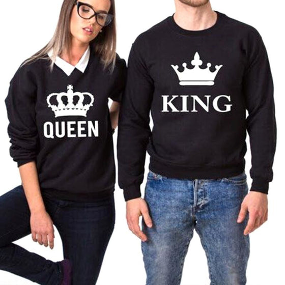 King and Queen Crown Sweatshirts