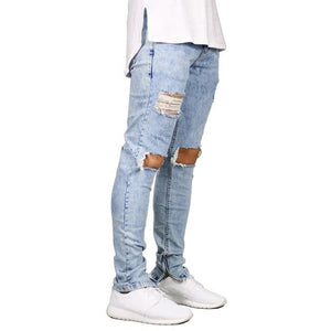 Ripped Stretchy Skinny Jeans