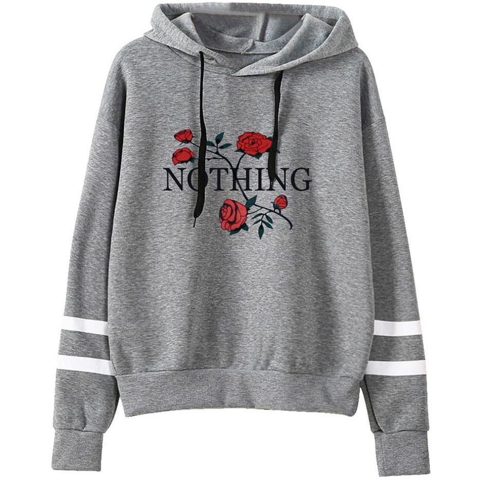 Nothing Embroided Striped Hoodie