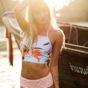 High-Waist Tank Summer Breeze Bikini