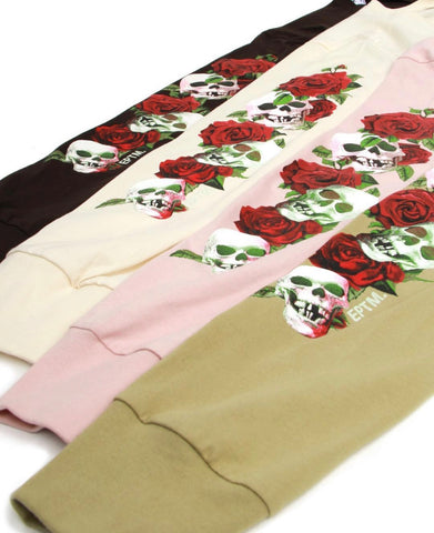Roses and Skulls Long Sleeve Tee