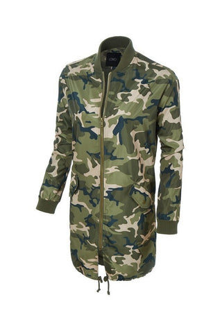 Female Camo Bomber Jacket