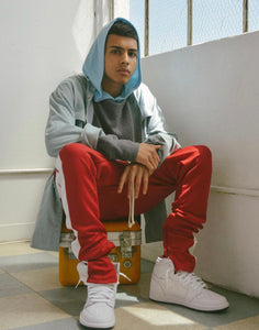Track Pants Red w/White Stripe