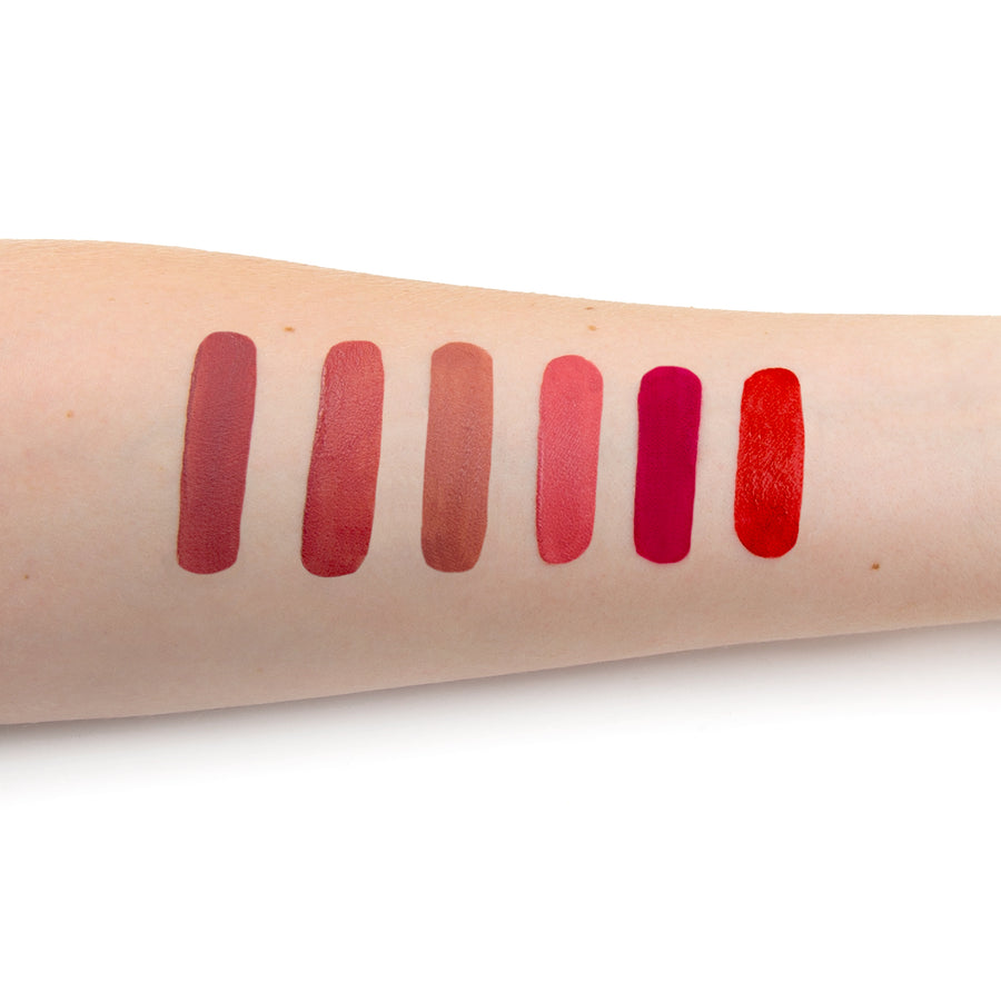 Meet Matte Hughes® Vol. 14 -- Set of 6 Mini Long-Lasting Liquid Lipsticks