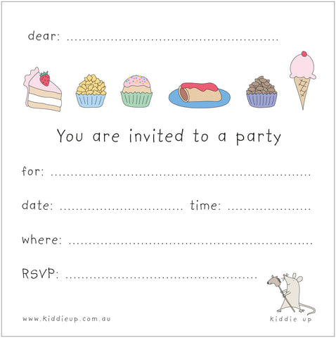 invitation party food