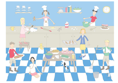 illustration large frame cooking