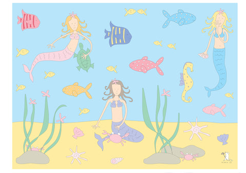 illustration large frame mermaid
