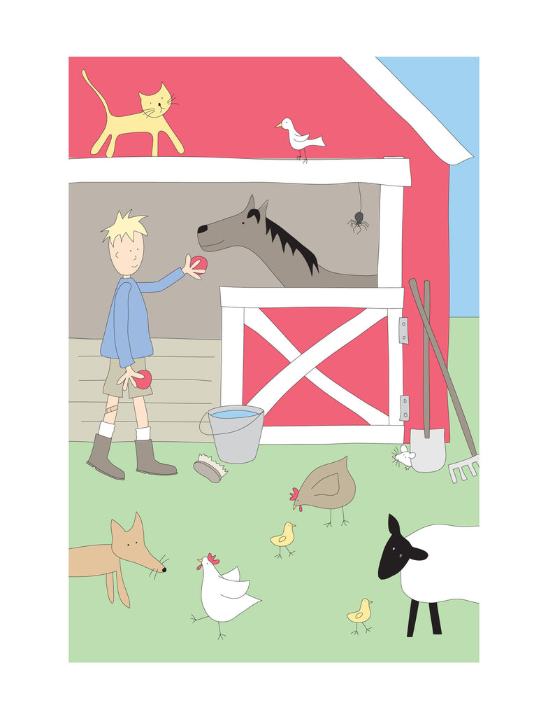 illustration small frame barn