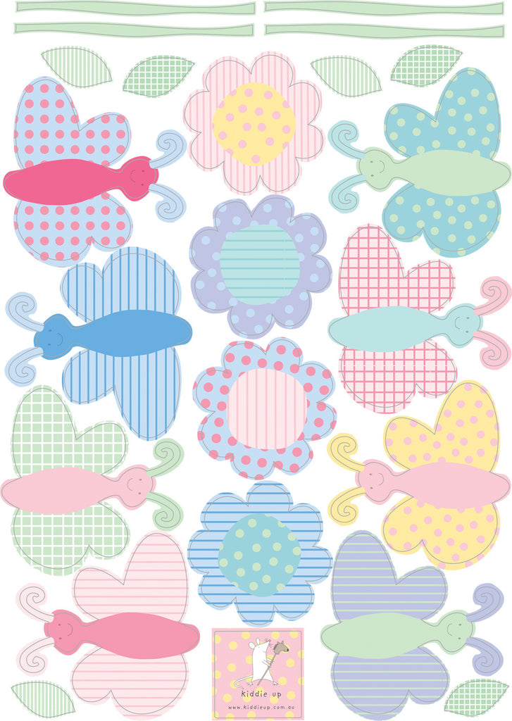 wall stickers butterflies pattern