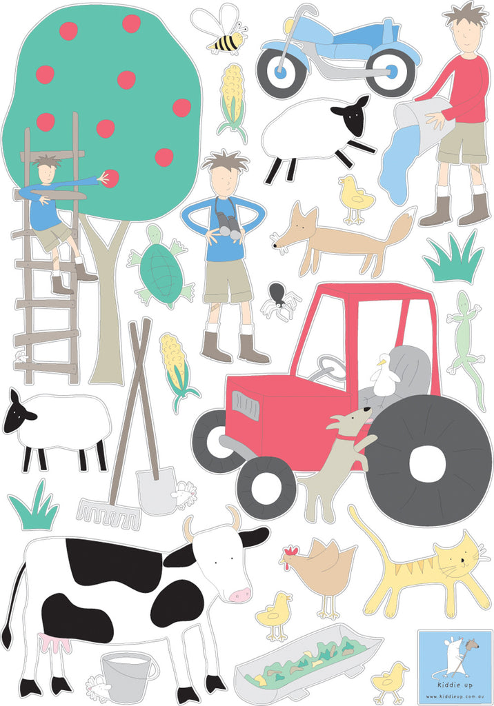 wall stickers farm boy