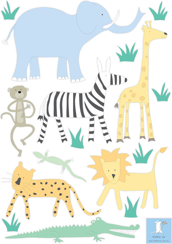 wall stickers jungle animals
