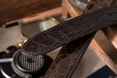 Sterling Silver Chocolate Alligator Belts - American Buckle - 4