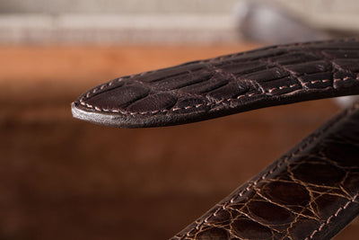 Sterling Silver Chocolate Alligator Belts - American Buckle - 5