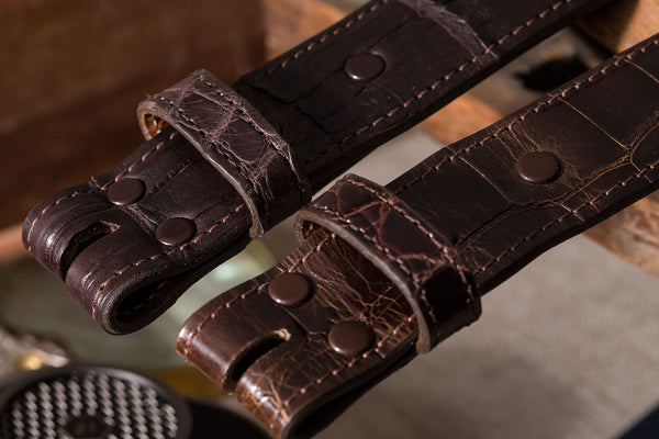 Sterling Silver Chocolate Alligator Belts - American Buckle - 2