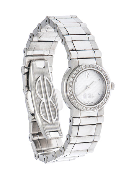 Reloj Bill Blass para dama en acero inoxidable.