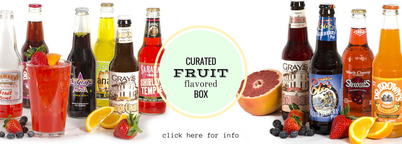 curated fruit flavored soda box