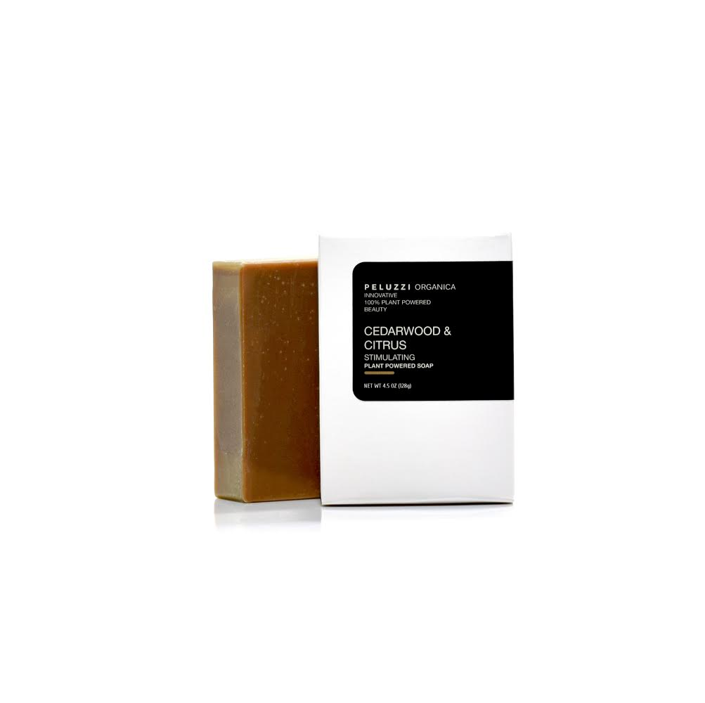 Cedarwood & Citrus Stimulating Soap - Peluzzi Organica