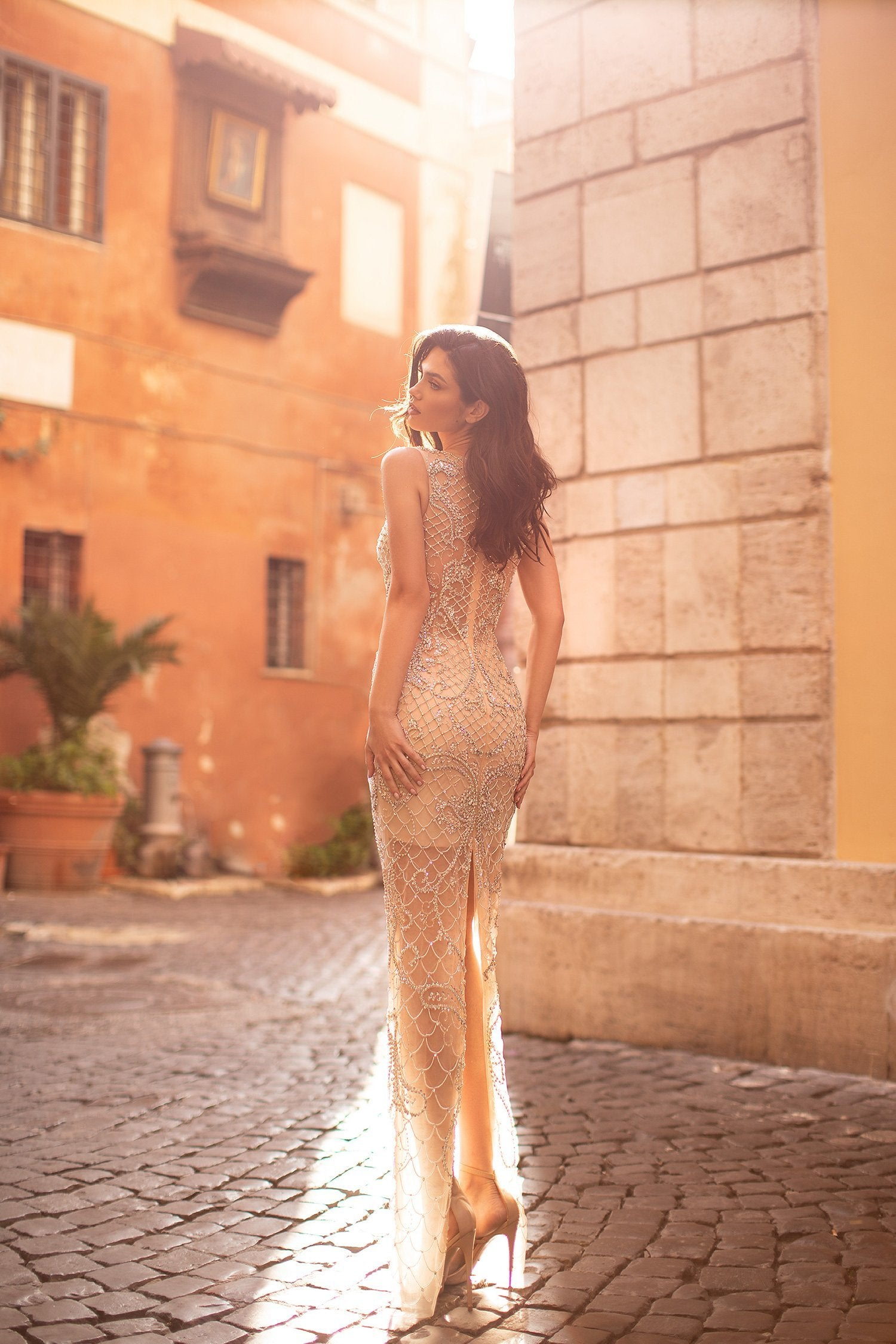 Andrea Beaded Gown
