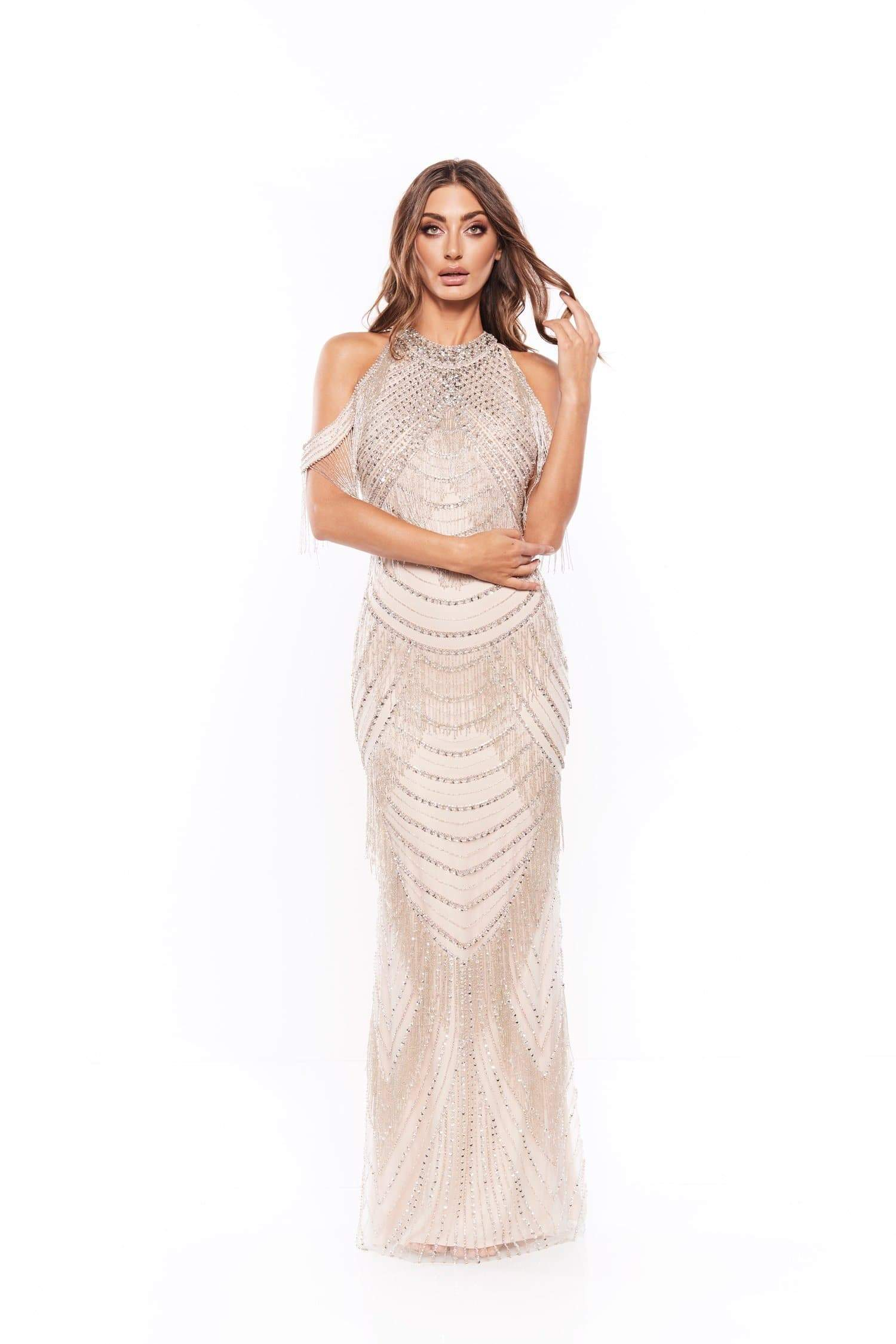 Joeliyn Beaded Gown