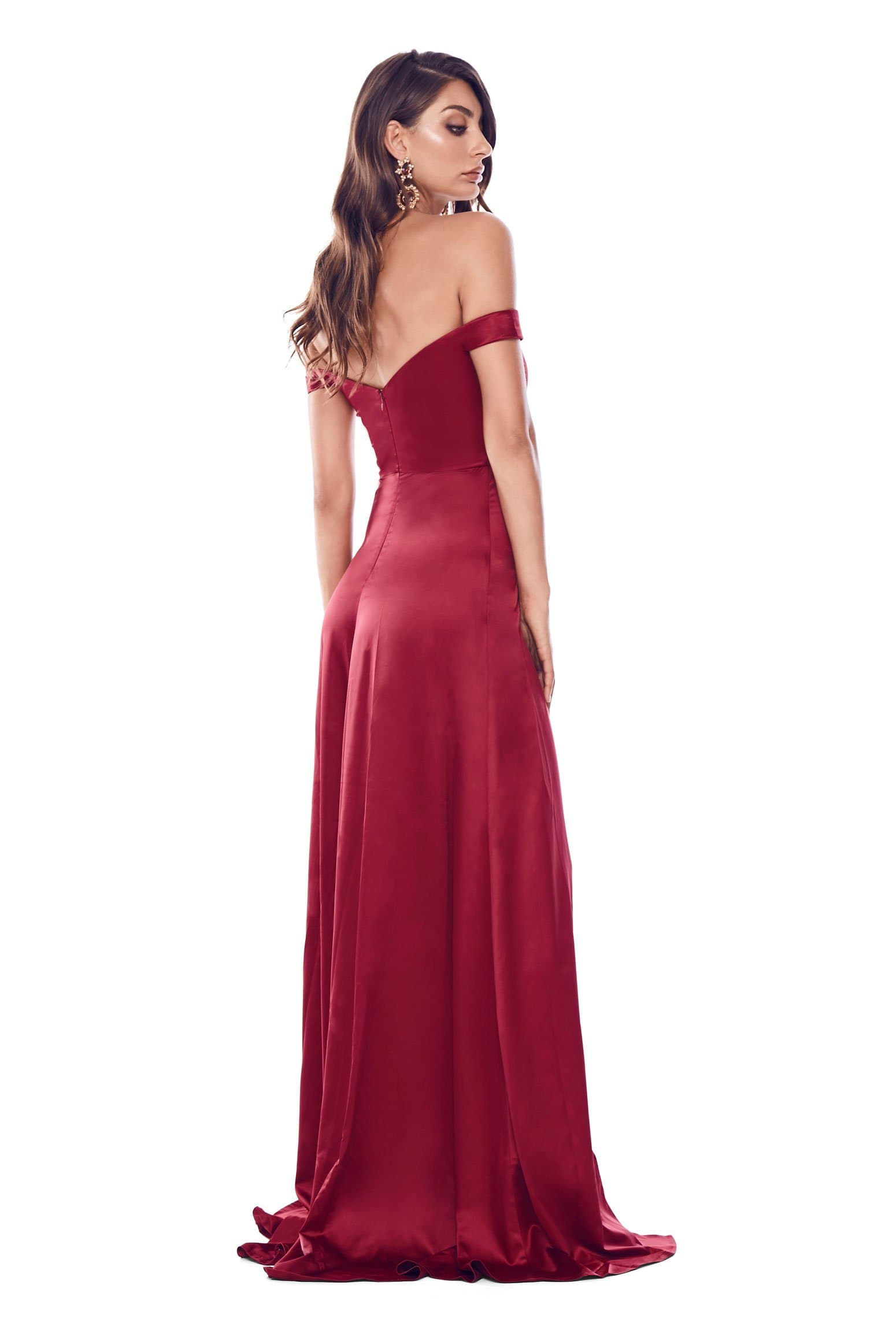 Florentina Gown - Deep Red Preorder For End Of May